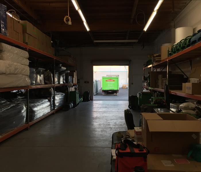 SERVPRO of North Oceanside's contents storage area's.