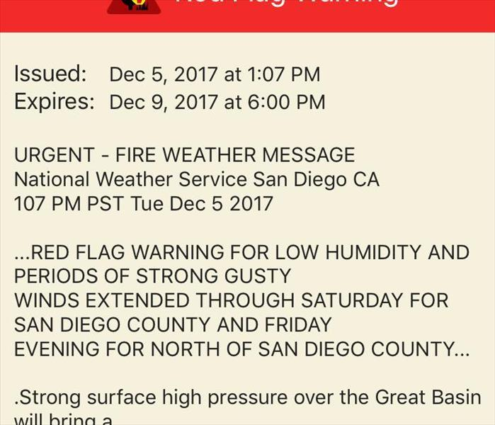 Community Red Flag warnings continue.
