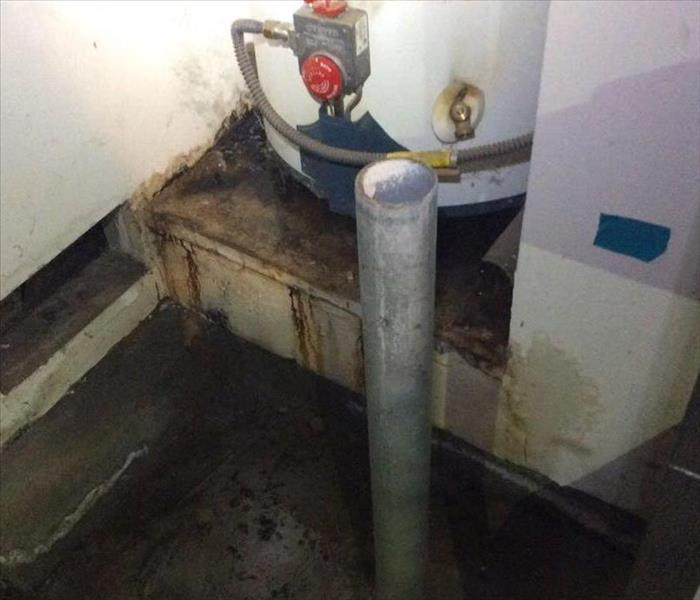 Mold Remediation SERVPRO North Oceanside: In Carlsdbad a water heater failed